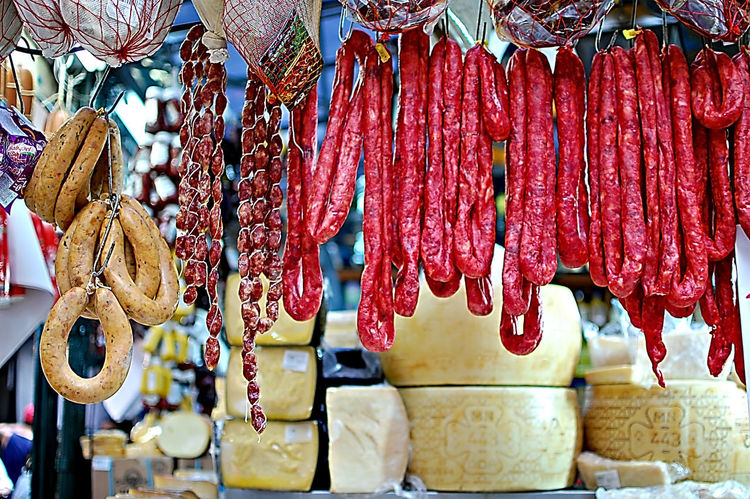 Sausage Cheese Light And Shadow Brasil Sampa Hanging For Sale Retail  Market Variation Abundance Market Stall Business Finance And Industry No People Day Large Group Of Objects Choice Outdoors Close-up