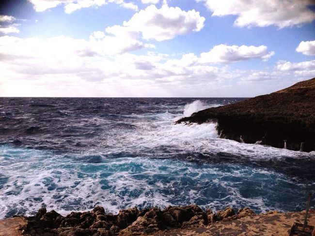 Malta Blue Grotto Ocean View Waves Sea And Sky Water_collection