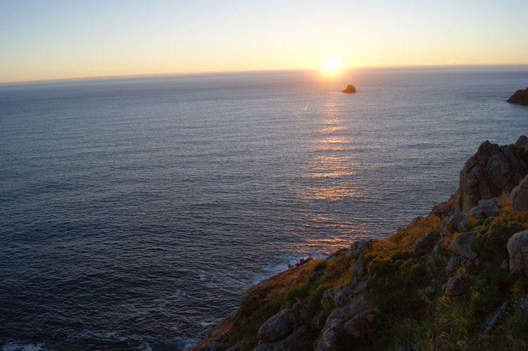 Fisterra SPAIN Beauty In Nature Fisterra Nature No People Outdoors Scenics Sea Sun Sunlight Sunset Tranquility Water