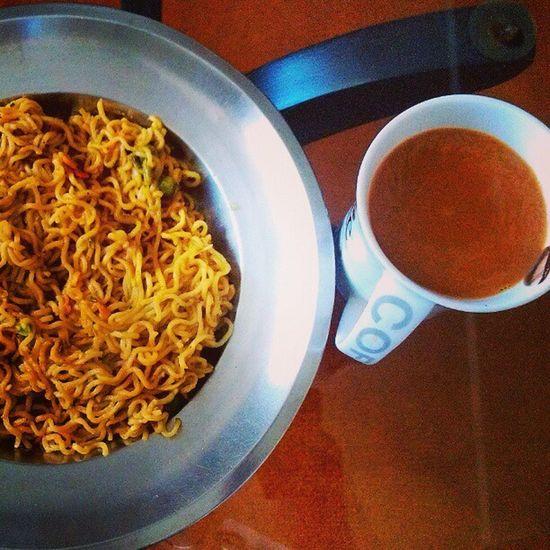 Breakfast Tea Maggie Love Food Indian