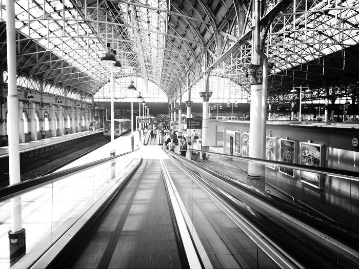 Manchester train concourse Travel Structure Photography