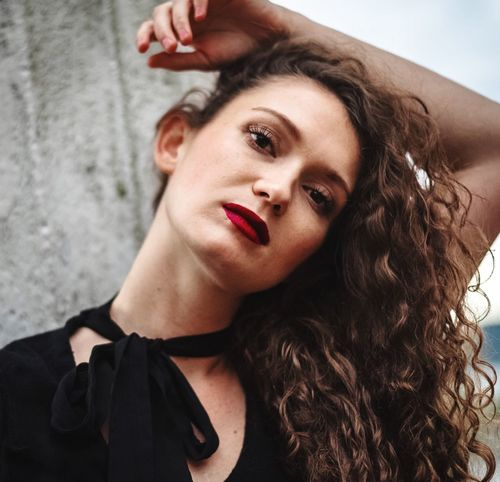 Young Adult Beauty Portrait One Person Women Looking At Camera Young Women Hair Hairstyle Beautiful Woman Leisure Activity Front View Fashion Real People Lifestyles Long Hair Adult Headshot Make-up Contemplation