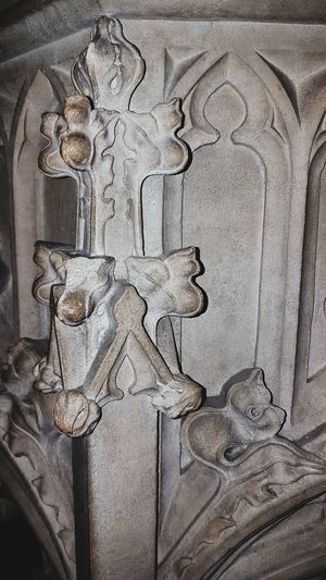 Close-up Indoors  Font Stonework St Martin's Church
