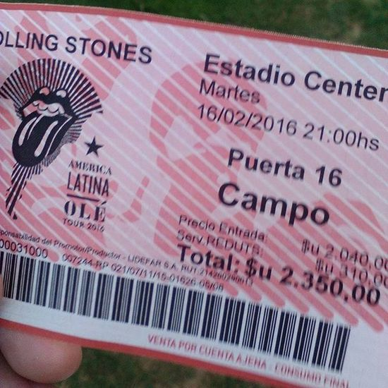 16/2/16 Rollingstones Concert Uruguay Mickjagger Keithrichards Rock RockandRoll Satisfaction 2016 Bestoftheday Likes Sieteprismas