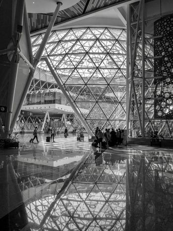 Reflections Built Structure Architecture Real People Travel Indoors  Tourism Reflection