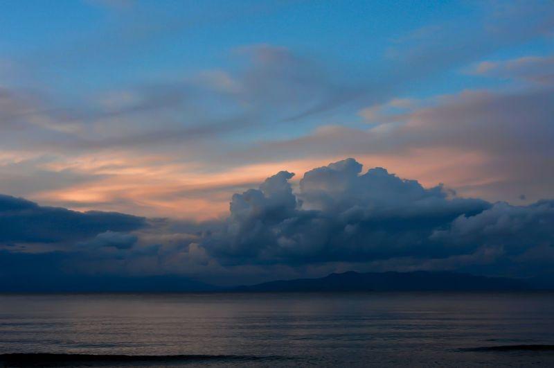 Beauty In Nature Cloud - Sky Dramatic Sky Dusk Horizon Horizon Over Water Idyllic Nature Outdoors Sea Sky Sunset Water Waterfront Capture Tomorrow My Best Photo