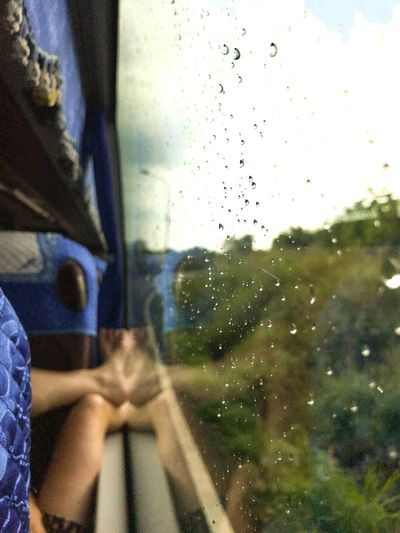 Chilling Bus Ride Relaxing Moments Glass - Material Window Transparent Transportation Indoors  Sky It's About The Journey Mode Of Transportation Vehicle Interior Motor Vehicle Water Rain Drop