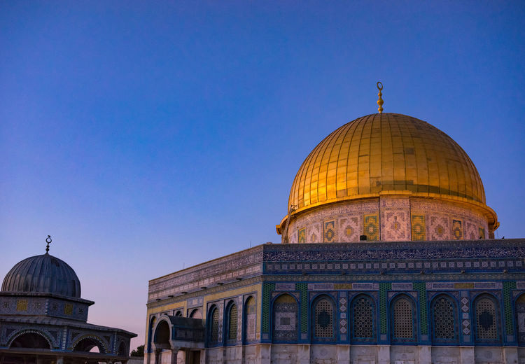View of masjidil aqsa mosque against clear blue sky