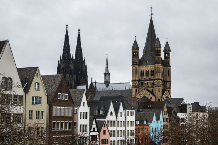 Great St. Martin Church, Cologne Köln Cologne Cologne , Köln,  Germany Deutschland Architecture Built Structure Building Exterior Travel Destinations City Building Sky Religion Belief Place Of Worship Tower Spirituality Day History The Past Residential District No People Outdoors Spire  Row House Gothic Style