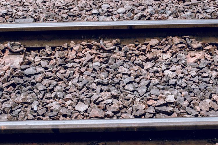 Gravel Nature No People Rail Transportation Railroad Track Stone - Object Track Transportation
