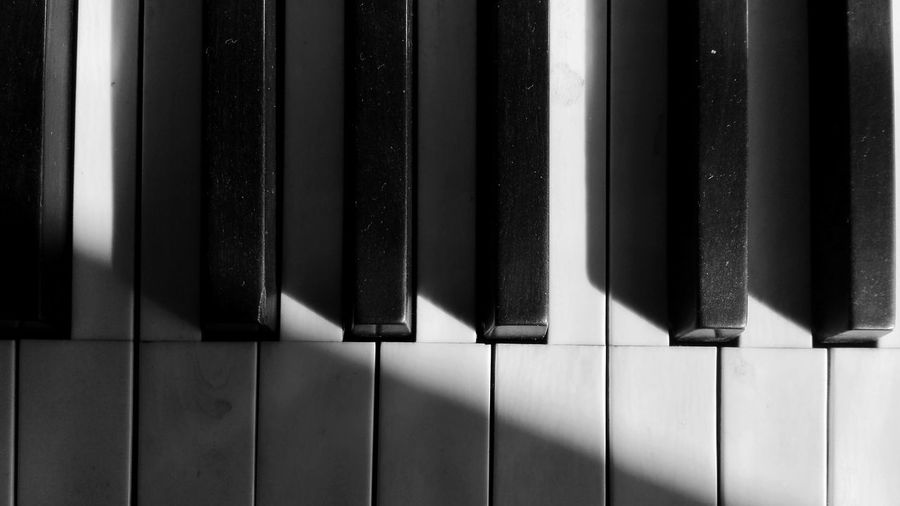 Keys Piano Piano Keys Keys Blackandwhite Black & White Detail Light And Shadow Diagonal Music Check This Out Taking Photos Interior Design White Black Lines Home Contrast Light Wallpaper Background Instrument Simplicity Composition A Bird's Eye View Monochrome Photography