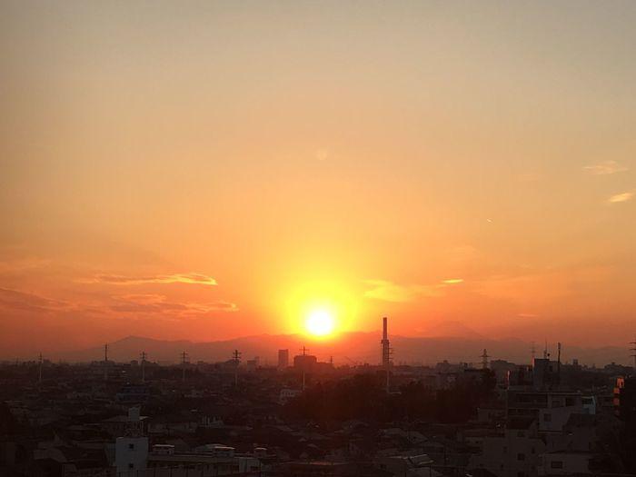Tokyo,Japan Koenji Sinkday Sunset