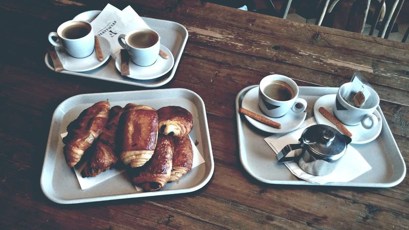 Breakfast Coffee Food Coffee Cup Table Breakfast Croasant