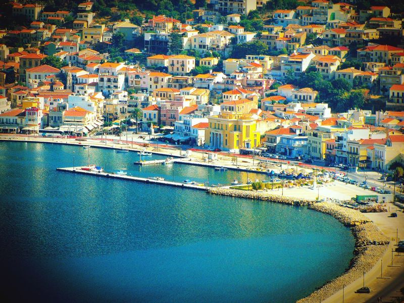 Town Port Houses Urban Landscape No People Greek Islands Picturesque Village Traditional Seeing The Sights Traveling Highlights From Aerial Shot Beauty In Ordinary Things Vathi Samos Island Summer Memories 🌄 The Tourist The Great Outdoors - 2017 EyeEm Awards The Street Photographer - 2017 EyeEm Awards The Architect - 2017 EyeEm Awards