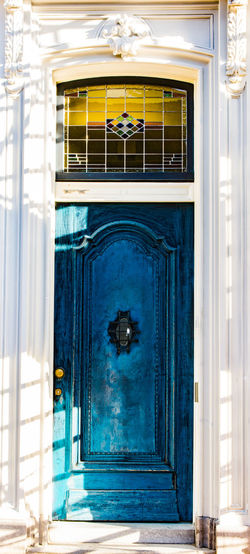 Window Architecture Entrance Built Structure Door Building Exterior Blue Day Building No People Glass - Material Closed Reflection Outdoors Curtain Sunlight House Nature Protection Safety Glass