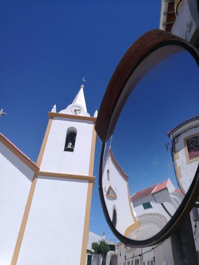 Alentejo Mirror Religion Alentejo EyeEm Selects Sky Architecture Building Exterior Bell Tower Church Historic Christianity Steeple Spirituality Catholicism Vanity Mirror