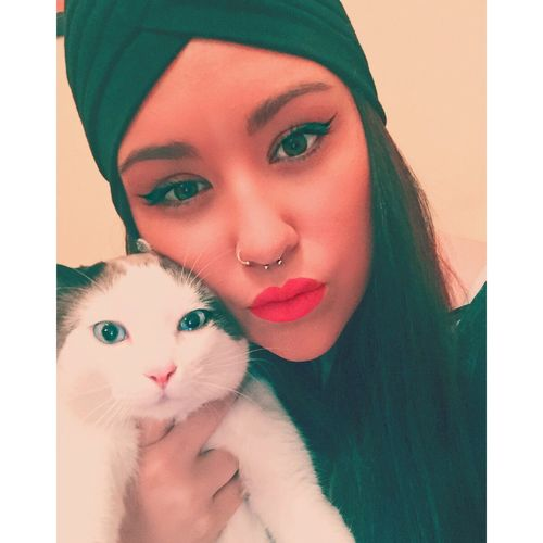 Baby cat. I Love My Cat Cats Cat♡ Beutiful Day Sexygirl Septum Peircing Sexi Time Eye Make Up Piercings Potography