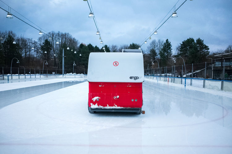 Ice Machine Zamboni Cold Temperature Day Engoying Life Ice Preparation Ice Sport Nature No People Outdoors Skating Sky Snow Tree Winter