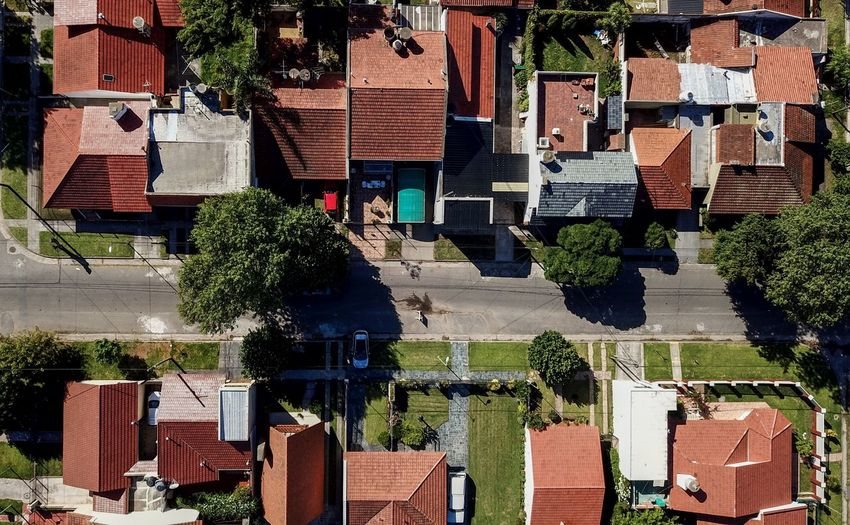 Architecture Built Structure Building Exterior Building Residential District Tree Plant City House Day Roof Outdoors No People Nature Sunlight Town High Angle View Street Full Frame Community Apartment