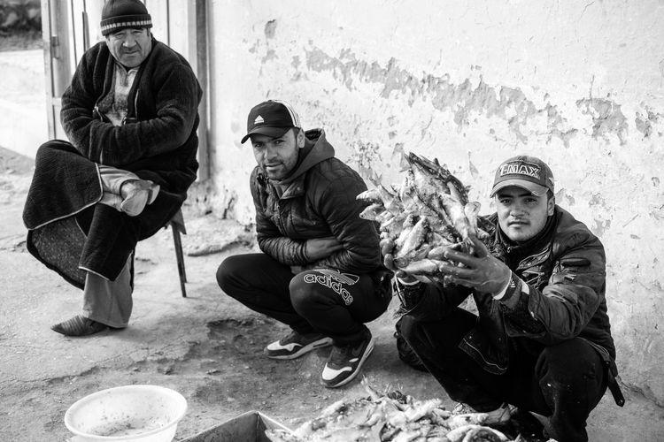 City Fish Fisherman Men Mountain Mountains Ouzbékistan People Silk Road Sitting Travel Uzbekistan Young Men