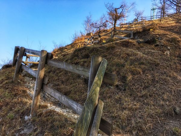 It seems... Nature Outdoors No People Clear Sky Built Structure Fence Mountain Climbing EyeEm Nature Lover From My Point Of View The Way Forward in Brianza