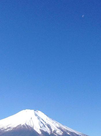 Sky_collection 富士山 月 山中湖からの富士山