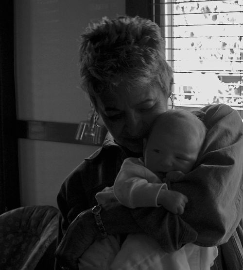 Adult Baby Black And White Photography Grandmother And Grandson Love My Mother Nurturing Togetherness