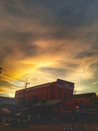 A typical sunrise in Poipet Cambodia. Sunrise Sunrise_sunsets_aroundworld Cambodia Cambodia Tour
