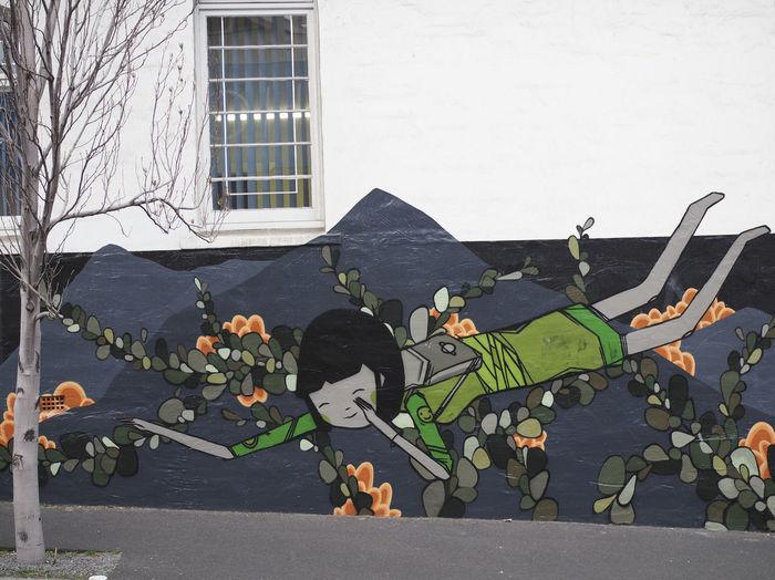 Colourful street art in Hobart's CBD. The perfect way to brighten up a grey winter's day Hobart Tasmania Street Art Eyeem Australia Colour Of Life Olympus OM-D E-M5 Mk.II Purist No Edit No Filter