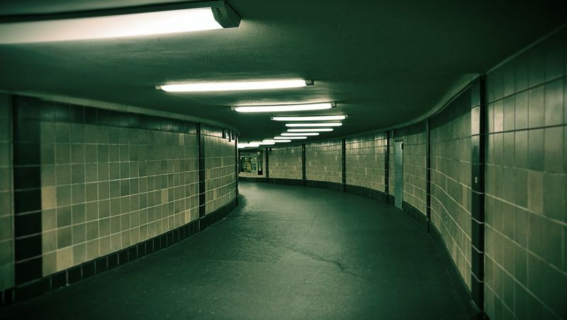 Indoors  Subway Illuminated Green Color No People Architecture Day Berlin Underground Berlin Platz Der Luftbrücke Finding New Frontiers The City Light Welcome To Black The Secret Spaces The Architect - 2017 EyeEm Awards