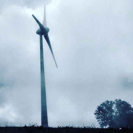 Cloud - Sky Day No People Outdoors Spraying Wind Power Alternative Energy Wind Turbine Low Angle View Sky EyeEmNewHere