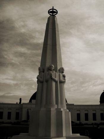 Griffith Observatory Griffith Park Los Angeles, California Obelisk EyeEm Gallery Black & White Eyeem Black And White EyeEm Best Shots Cgk Photography