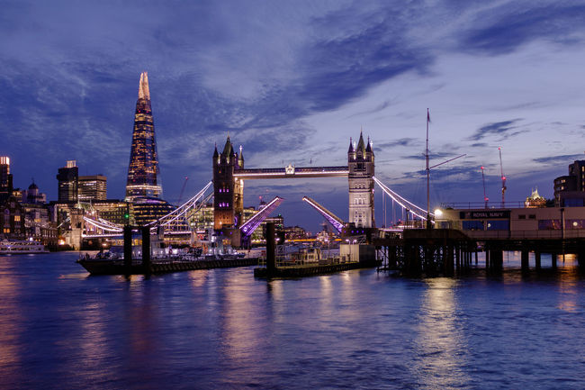 Tower Bridge LONDON❤ London The Shard, London Tower Bridge  Architecture Bridge - Man Made Structure Building Exterior Built Structure City Cityscape Cloud - Sky Illuminated Nature Nautical Vessel Night No People Outdoors River Sky The Shard Transportation Travel Destinations Water Waterfront