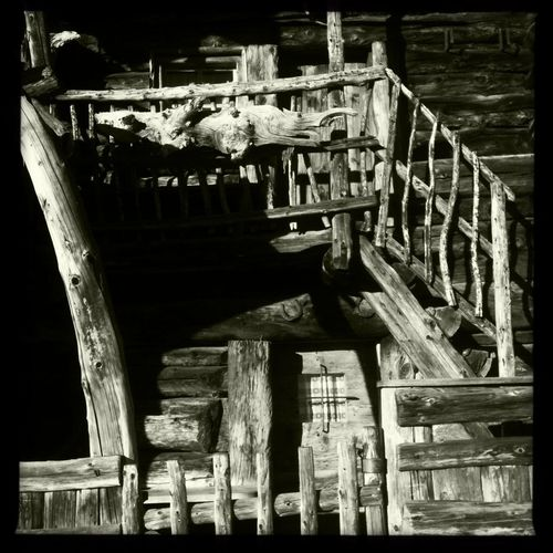The oldest mountain hut in my surroundings: Riemerberglalm Blackandwhite Hipstamatic Ulten Ultental