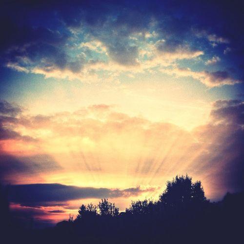 Sunset during Euruconf Lightning Talks yestersay