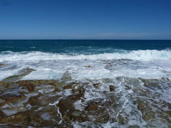 Malta Sliema Mediterranean  Mediterranean Sea Rock Beach Sea Water Sky Horizon Horizon Over Water Wave Scenics - Nature Beauty In Nature Motion Outdoors