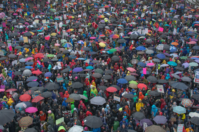 Adult Adults Only Aerial View Anti-Trump Rally Audience Celebration City Civil Rights  Crowd Day High Angle View Large Group Of People Match - Sport Multi Colored Music Not My President Outdoors People Portland, OR Real People Stadium Togetherness Womens Rights Womensmarch Resist