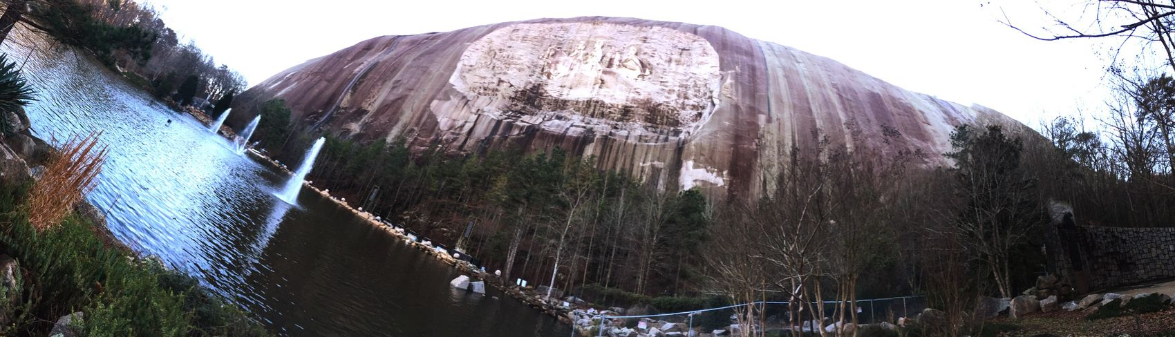 Nice place to visit at Stone mountain and spend some good time!! Mountain View Mountain_collection Mountain Stone Statue Forest Lake View Lake Relaxing Resting Taking Sun