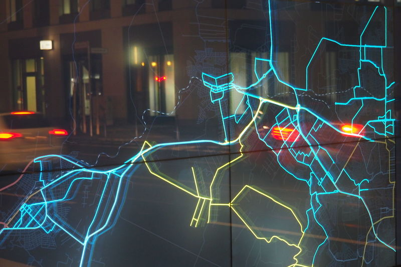 Backgrounds City Planning Full Frame Glowing Map No People Plan Reflection Roads Speed Technology