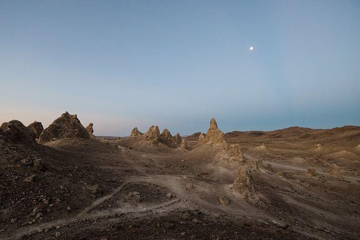 Dawn at the Planet of the Apes. Trona Pinnacles Dawn First Light California Desert