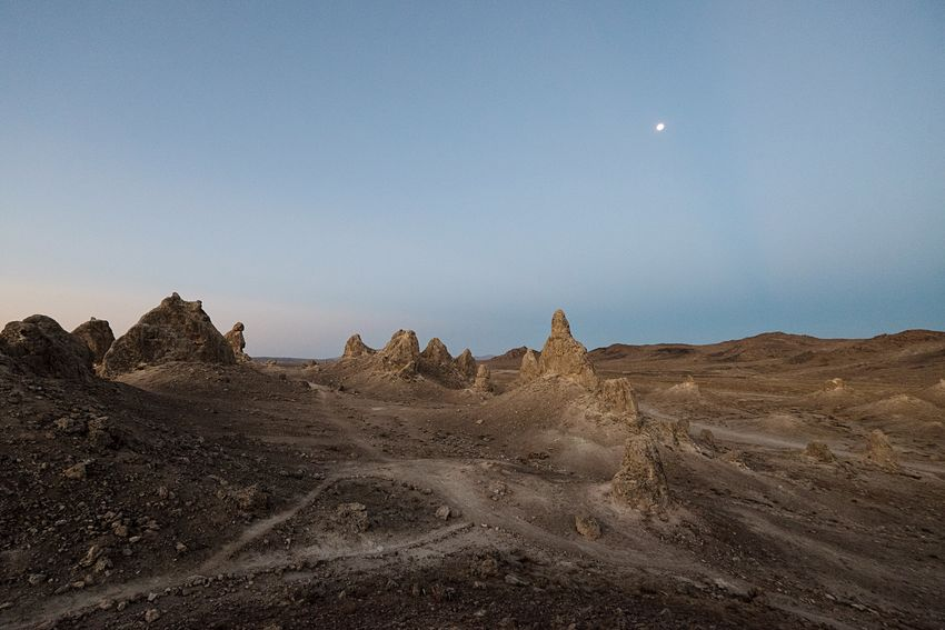 Dawn at the Planet of the Apes. Trona Pinnacles Dawn First Light California Desert