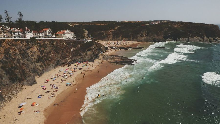 EyeEm Selects Beach Sand Water Sea Outdoors Sky Summer Landscape Vacations Nature Clear Sky Sand Dune Day People Large Group Of People Vacations Vacation Time The Week On EyeEm Summer 2017 Summer Zambujeira Do Mar Tranquility