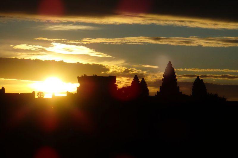 Sunrise in Angkkor, Cambodia Angkor Angkorwat Architecture Cambidia Cloud Cloud - Sky Orange Color Religion Scenics Silhouette Sky Spirituality Sunbeam Sunlight Sunrise Temple - Building