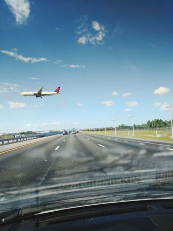 From my car. Airplane Flying Outdoors Tranportation