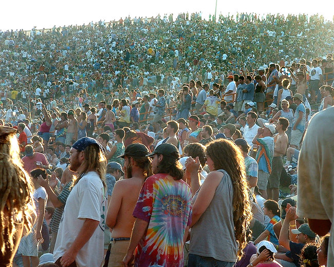 Abundance Alpine Valley Alpine Valley Wisconsin Casual Clothing Celebration Concert Concert Crowd Concert Photography Crowd Day Dead Concert Enjoyment Fun Grateful Dead Large Group Of People Lifestyles Massive Audience Men Mixed Age Range Outdoors Overflow Crowd Person Sky Tourism Vacations