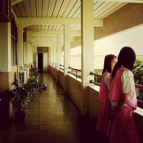 SMA Trinitas School Girl School Uniform People
