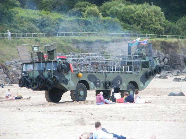 Amphibian Amphibious Vehicle Beach Day Land Vehicle Large Group Of People Outdoors Russian Truck Sea Vehicle Tree Caldey Island Pembrokeshire Coast Pembrokeshire