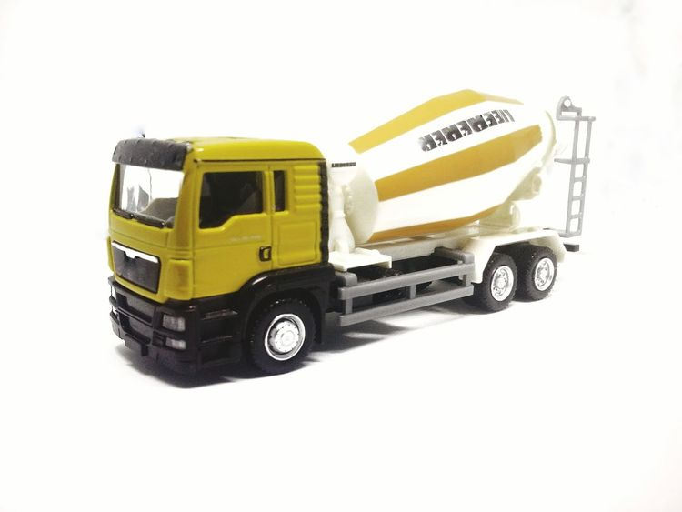 Yellow White Background Transportation Land Vehicle No People Golden Light Topgear White Backround Close-up Studio Shot Single Object Lorry Tracks Contractions Cemen Turck