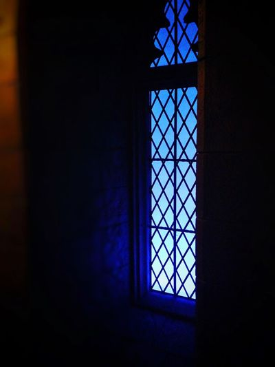 My Favorite Place Window Indoors  Blue Dark Day Geometric Shape Multi Colored Darkroom Gothic Castle Harrypotter