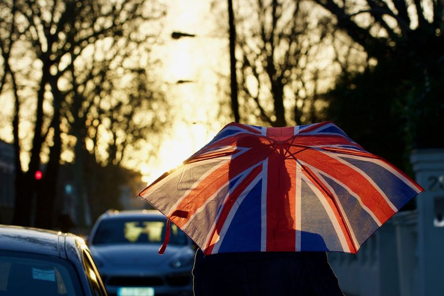 Union Jack Umbrella British Culture Union Jack Umbrella Rainy Days Rain Raindrops British British Weather LONDON❤ London Nature Rain Drops Sunlight United Kingdom Weather Climate England Multi Colored Outdoors Streetphotography Sunset Uk Umbrella Union Jack Flag Weather Forecast Shades Of Winter